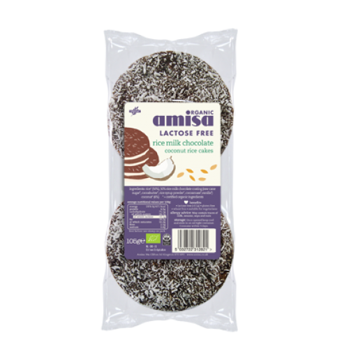 Rijstwafels Rijstmelk Kokos Chocolade van Amisa