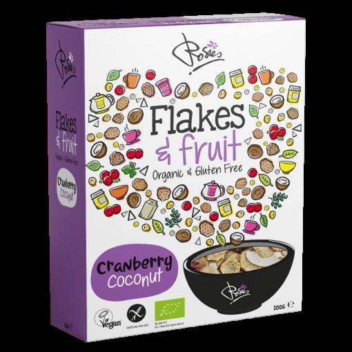 Flakes & Fruit Cranberry Coconut Biologisch van Rosies