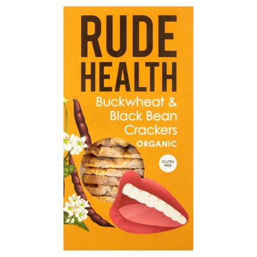 Buckwheat & Black Bean Crackers van Rude Health