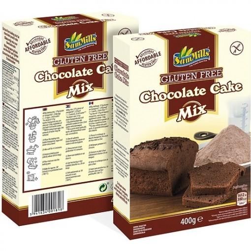 Chocolade Cake Mix van Sam Mills