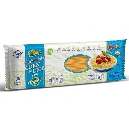 Mais & Rijst Spaghetti BIO van Sam Mills
