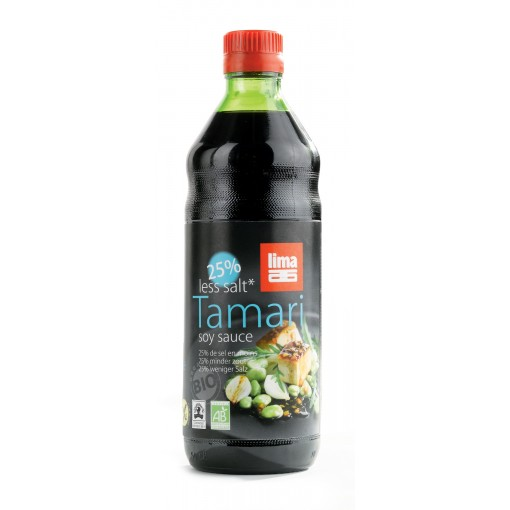 Tamari 25% Minder Zout 500ml van Lima