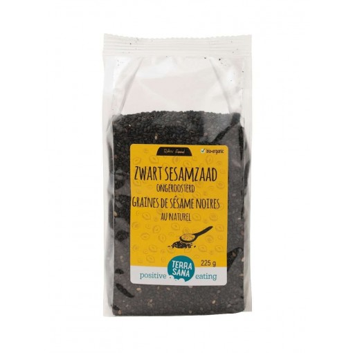 Sesamzaad Ongeroosterd Zwart 225 gram van Terrasana