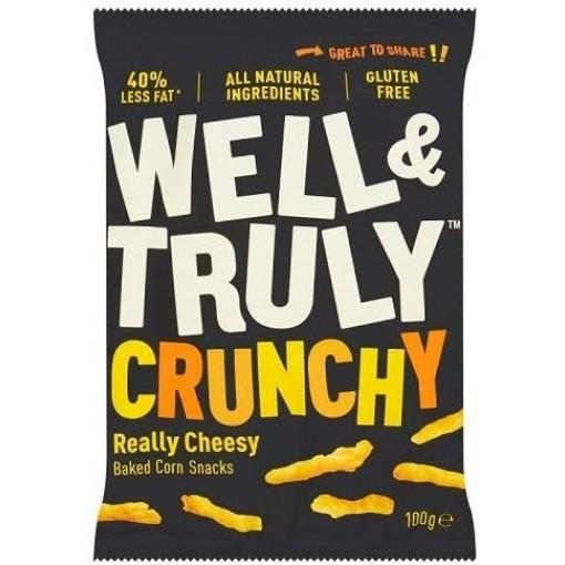 Corn Snacks Crunchy Really Cheesy 100 Gram  van Well & Truly