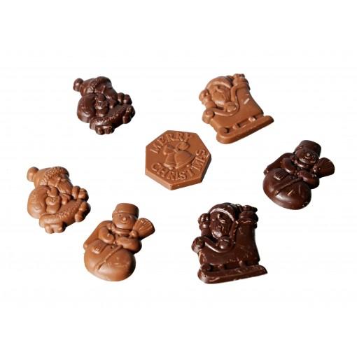 Chocolade Kerstfiguurtjes Bruin van Wiloco