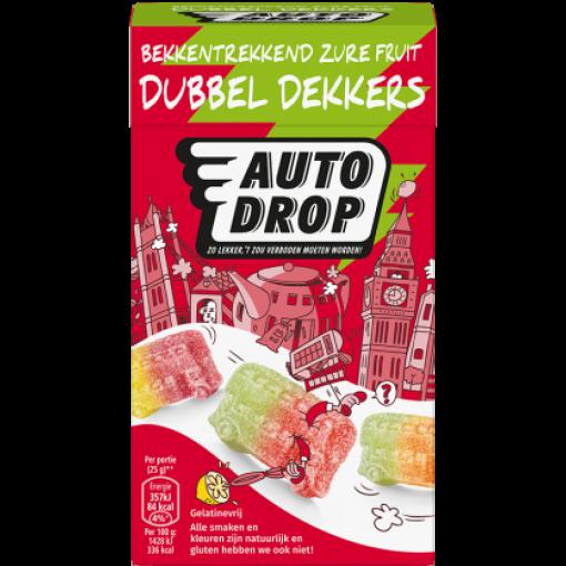Autodrop Zure Fruit Dubbel Dekkers Mixdoos