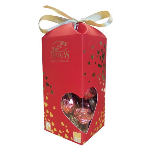 Belvas Twist Balls 72% Dark Chocolate Kerstbonbons