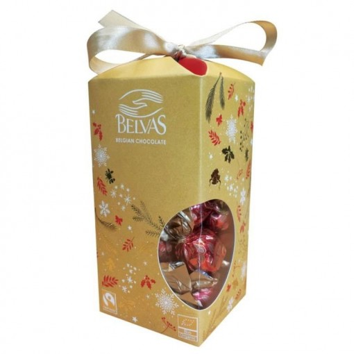 Belvas Twist Balls 72% Dark Chocolate Kerstbonbons