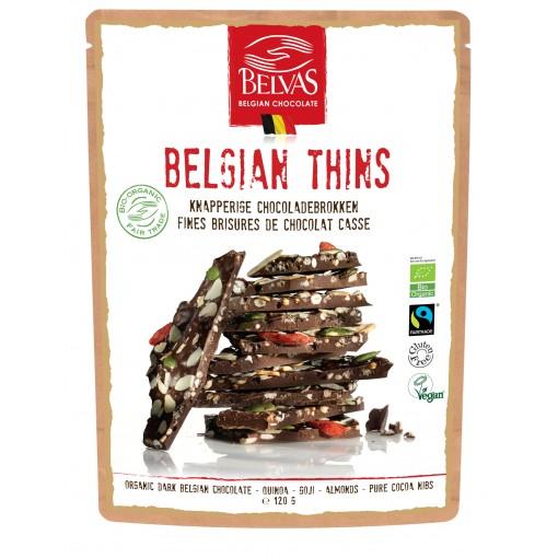 Belvas Chocoladebrokken Puur Quinoa & Goji