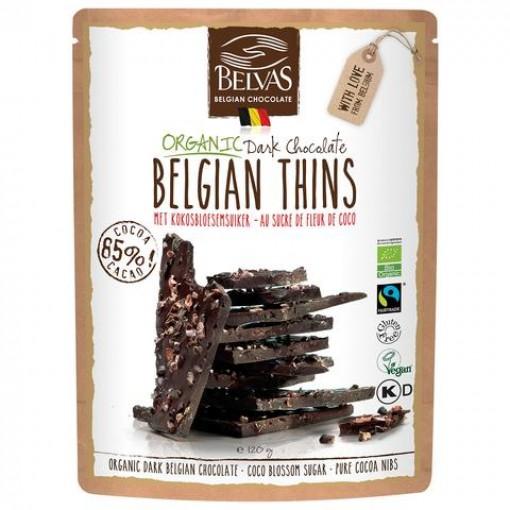 Belvas Chocoladebrokken Puur Kokosbloesemsuiker & Cacao Nibs