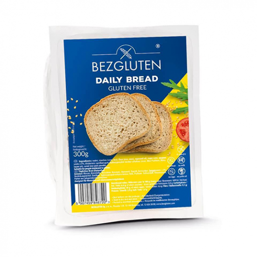 Bezgluten Bruin Brood Gesneden