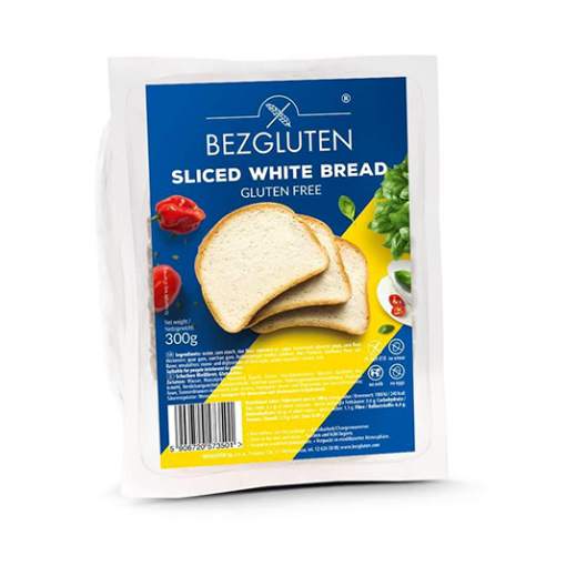 Bezgluten Wit Brood Gesneden