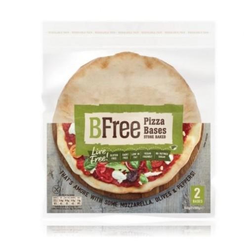 BFree Pizzabodems Stone Baked (2 stuks) (T.H.T. 26-11-2019)