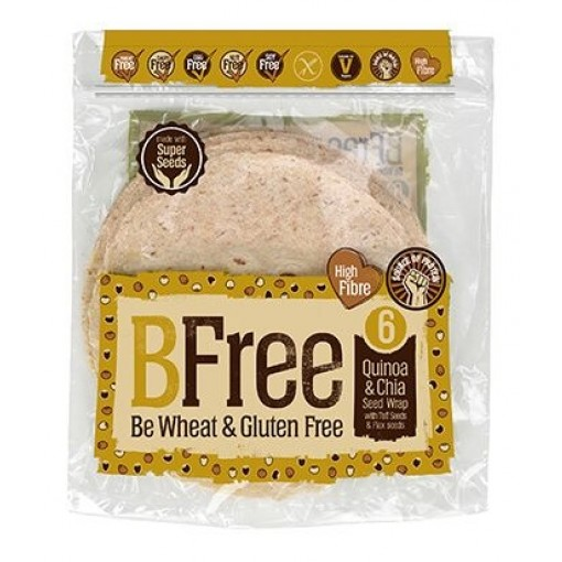 BFree Quinoa & Chia Zaad Wrap 4 stuks
