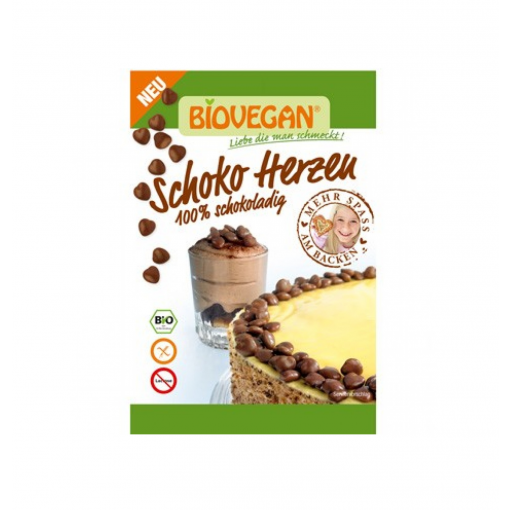 Bio Vegan Chocolade Hartjes Decoratie