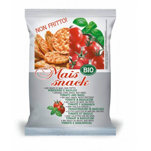 Bio Alimenti Mais Snack Tomaat & Basilicum