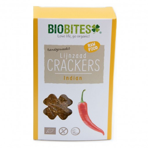 Biobites Lijnzaad Crackers Indian