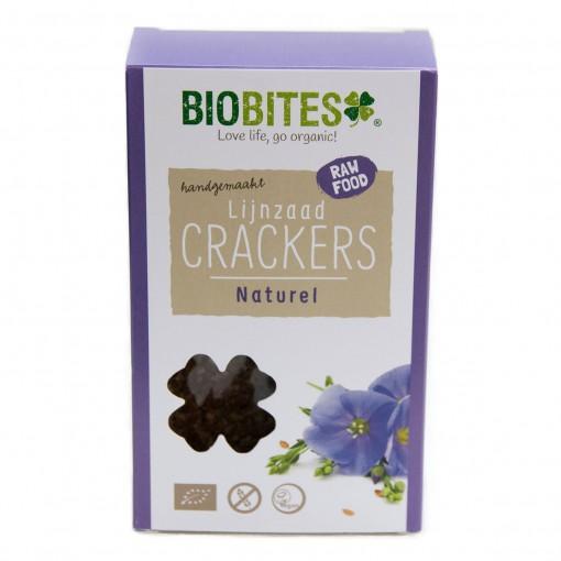 Biobites Lijnzaad Crackers Naturel