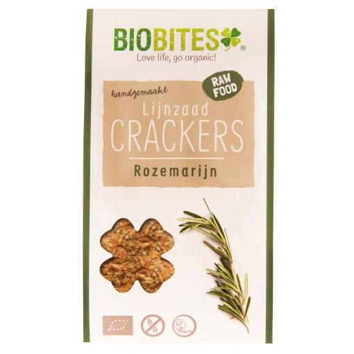 Biobites Lijnzaad Crackers Rozemarijn 30 gram