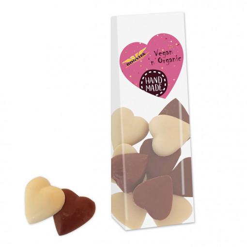 Bonvita Vegan Chocolade Hartjes Wit & Bruin