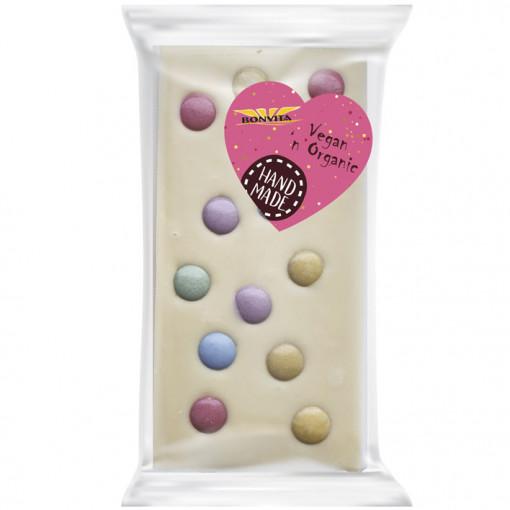 Bonvita Vegan Witte Chocolade Tablet Confetti