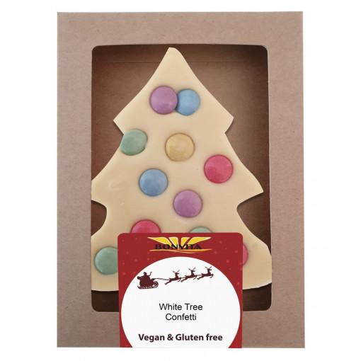 Bonvita Vegan Chocolade Kerstboom Confetti Wit