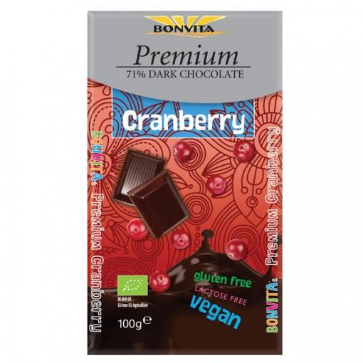 Bonvita Premium Chocoladetablet Cranberry