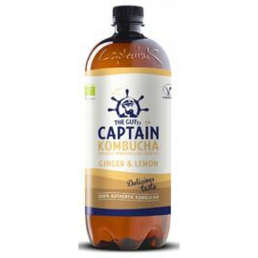 Captain Kombucha Kombucha Ginger & Lemon 1 Liter