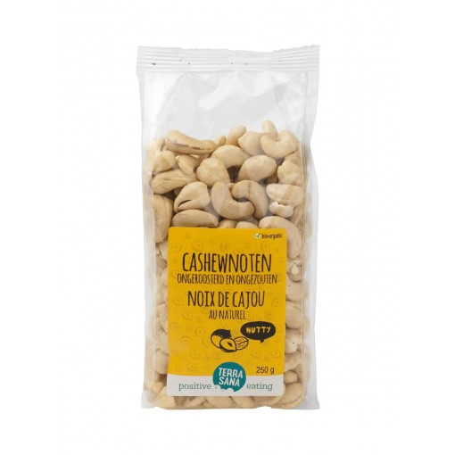 Terrasana Cashewnoten Ongeroosterd & Ongezouten 250 gram