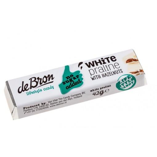 De Bron Chocoladereep Wit Praliné