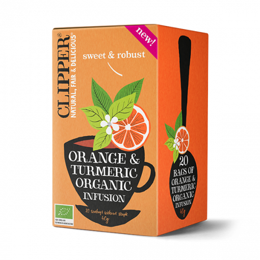 Clipper Orange & Turmeric Tea