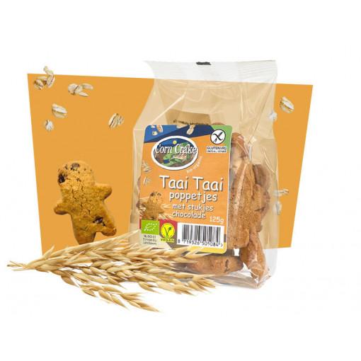 Corn Crake Taai Taai Poppetjes Stukjes Chocolade