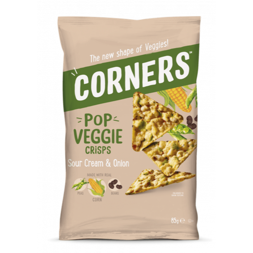 Corners Pop Veggie Crisps Sour Cream & Onion