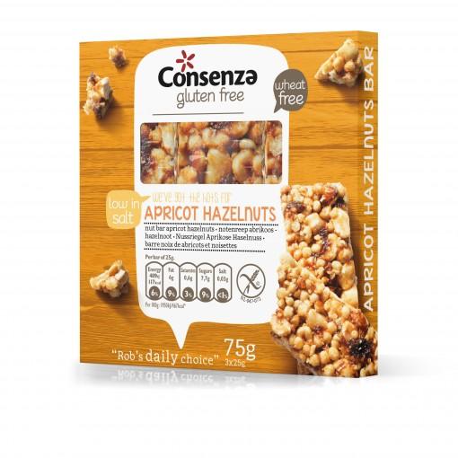 Consenza Abrikoos-Hazelnoot Notenreep (T.H.T. 01-02-2020)