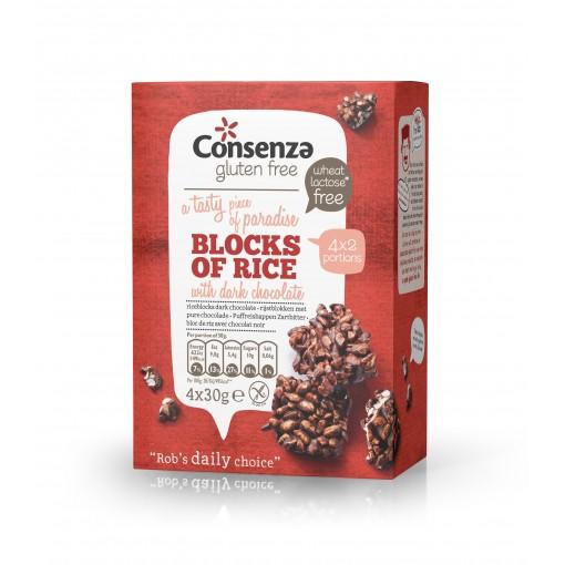 Consenza Chocolade Rijstblokken Puur