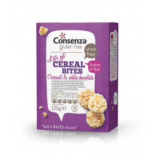 Consenza Cereal Bites Kokos Witte Chocolade