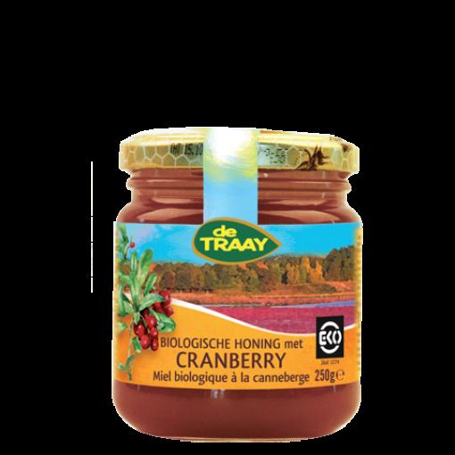 De Traay Honing Met Cranberry Biologisch