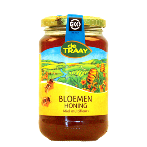 De Traay Bloemen Honing Biologisch 900 gram