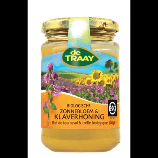 De Traay Zonnebloem & Klaver Honing Biologisch