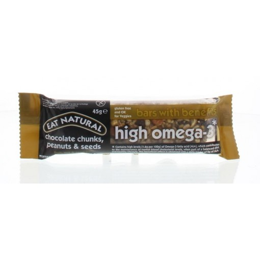 High Omega-3 Bar Chocolate Chunks, Peanuts & Seeds