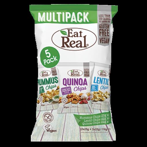 Eat Real Multipack Hummus, Linzen & Quinoa Chips