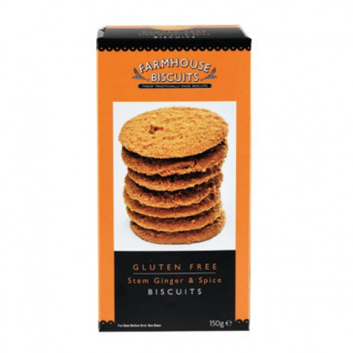 Farmhouse Biscuits Stem Ginger & Spice Biscuits