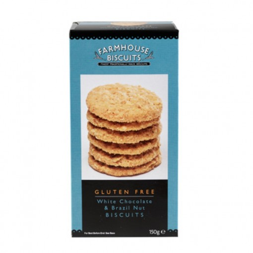 Farmhouse Biscuits White Chocolate Brazil Nut Biscuits