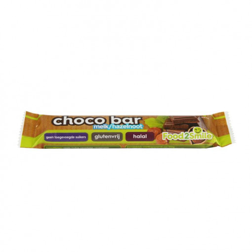 Food2Smile Choco Bar Melk Hazelnoot
