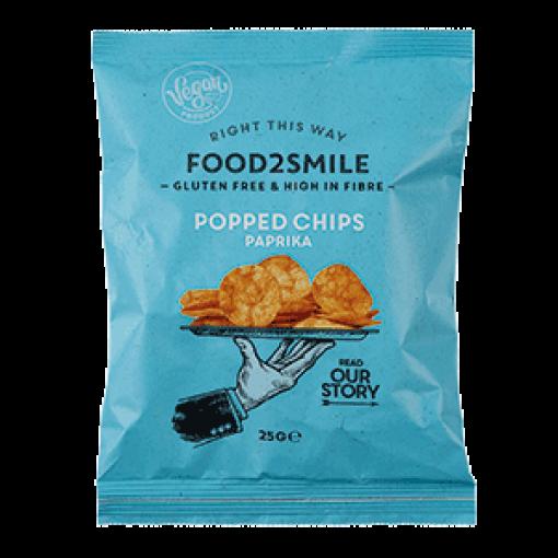 Food2Smile Popped Chips Paprika 25 gram