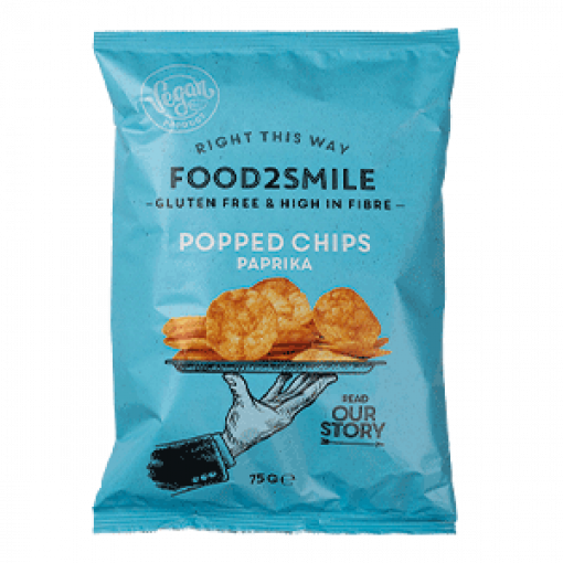 Food2Smile Popped Chips Paprika 75 gram