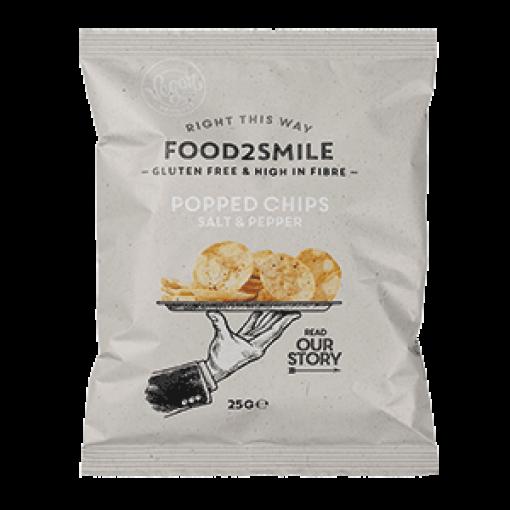 Food2Smile Popped Chips Salt & Pepper 25 gram