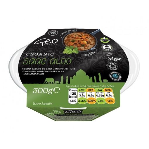 Geo Organics Saag Aloo Opwarmmaaltijd