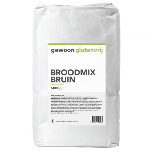 Gewoon Glutenvrij Broodmix Bruin 5 kilo