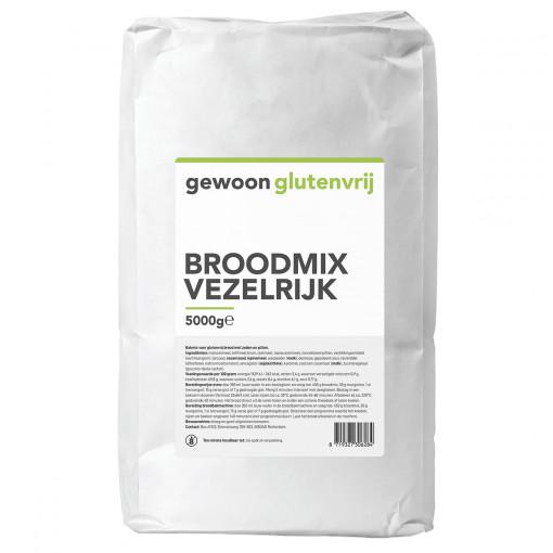 Gewoon Glutenvrij Broodmix Vezelrijk 5 kilo